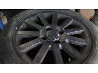 Volvo s40 4 stud alloys x 4, 205 50 16 tyres
