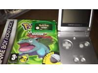 Game Bot Advance SP and Pokémon Leaf Green