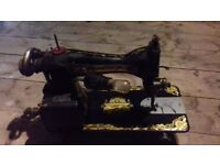Vintage Singer Sewing Machine with light