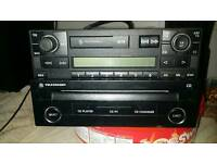 Vw car stereo cd play and cassete