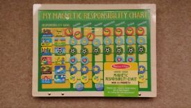 Brand New Melissa & Doug My magnetic responsibility chart wooden toy