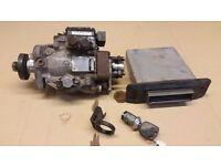 ford transit 04 20lt fuel injector pump plus ecu & key & reader
