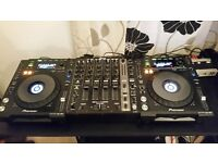 Pioneer CDJ-850K pair with Denon DN-X1100 mixer, boxed in mint condition