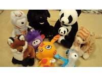 Bundle soft toys panda bear fox Moshi Katsuma