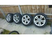 """BMW 3 SERIES F30 SPORT 17"""" ALLOYS WITH TYRES"""