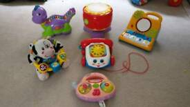 V TECH, leap frog, Fisher price toys