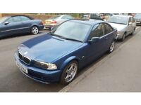 Bmw 318 ci coupe 2002 blue e/suroof windows and mirrors alloys drives superb very clean reliable