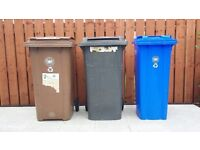 Brown bin full size for sale, good condition