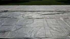 2 x flat sheet cricket covers