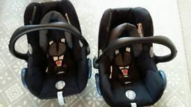 Maxi Cosi Car Seats x2