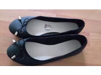 Ladies Black Flat Ballerina Shoes size 6/39
