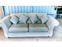 Lovely blue Pattern Large Two Seater Sofa