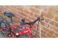 Bike red, used - need a little tlc