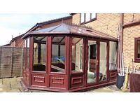 LARGE MODERN ROSEWOOD CONSERVATORY