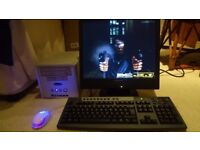 PC Shuttle XPC SN41G2 V2 with Mouse Monitor and Keyboard
