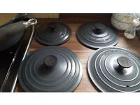 LE CREUSET PAN SET .great condition.