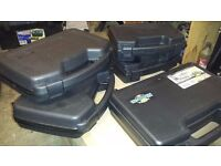 pistol/storage cases with foam liners x5