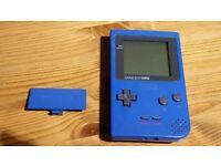 Game Boy Pocket Blue with back lid.