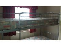 Bunk beds with metal frame