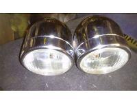 Chrome twin dominator headlights