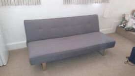 Sofa bed - dark grey, 3 yrs old, v.good condition, collection only, £100ono. Fire resistant.