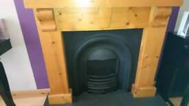 Cast iron Fire insert (used for decorative use)