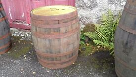 Empty whisky barrels