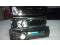 Car audios for sale pioneer, JVC, Sony,