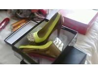 New size 5 green high heel fashion shoes