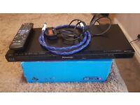 Panasonic blu ray player & 35 blu ray films & 30 dvds