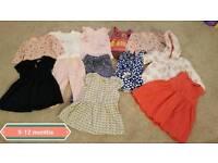 Girls 9-12 month bundle 12 items