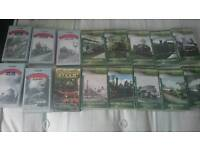 Collection of steam train dvd videos