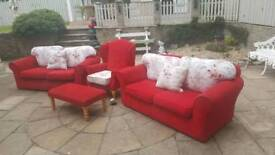 2 seater suite, armchair