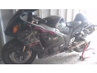 Suzuki hayabusa gsxr,1300.limited edition,in good order,needs a good clean and theres a afew markss.