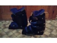 Rossignol Vision 6 ski boots - Black / Purple, 25-25.5 UK Women size 6.5 Very good condition