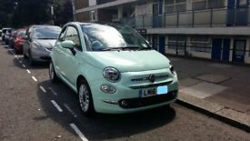 Fiat 500 Lounge 1.2 petrol, manual. 1 Owner, FSH. Colour= Smooth Mint (pastel)
