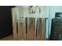 5 panel bamboo reed screen room divider