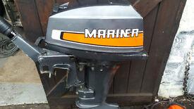 Mariner 9.9 outboard motor.