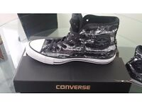 Women's black and silver all*star converse