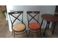 Bistro style chairs and tables
