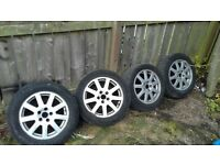 """16"""" alloys off transit connect. 3 good tyres 1 needs changing"""