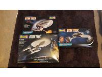 star trek model kits x 3
