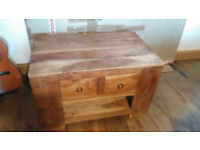 Teak Coffee Table with Draws & Shelf