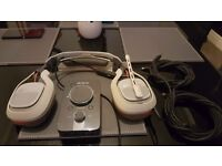 Astro A40 Wired Gaming Light Grey Headset & Mix Amp Pro for Mac/PC/PS3/PS4