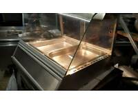 Commercial catering heated food display pie chicken food warmer