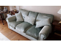 Beautiful Mint Green velvet sofa