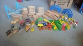 Wooden train sets