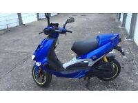 Blue Aprilia SR 70cc reg as 50