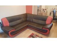 corner sofa and 1 seater chair (free delivery)