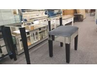 2 Drawer Mirrored Dressing Table & Stool Can Deliver